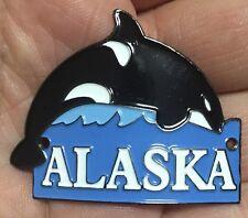 Alaska Orca Whale Hiking Staff Stick Medallion NEW