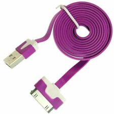 heavy duty flat noodle Apple Charger USB Lead Data Cable iPhone 4S 4 3GS iPad 2