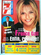 Télé 7 Jours 06/10/2001 France Gall / Dany Brillant/ Nicole Kidman/ M. Fugain