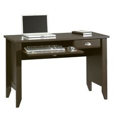 Computer Desk with Keyboard Tray in Dark Brown Mocha Espresso Wood Finish