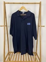 RARE VTG 90s Blockbuster Video Employee Uniform VHS Polo Shirt Size 4XL