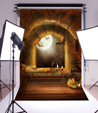 Halloween Bats Night Scene Backdrops Vinyl 4x6Ft Photography Background Studio