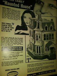 AURORA ADDAMS FAMILY HAUNTED HOUSE MODEL ORIGINAL AD CAROLYN JONES VINTAGE 1965