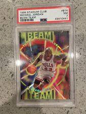 Michael Jordan Beam Team PSA 7 Insert Card 1995 Stadium Club #B14
