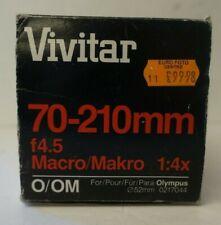 Vivitar 70-210mm f4.5 Macro Lens for Olympus O/OM Mount