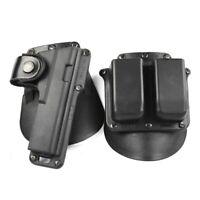 Revista TACTCAL Fobus Paddle Tipo Doble Bolsa Para Glock Mag Sig Sauer .357 .40