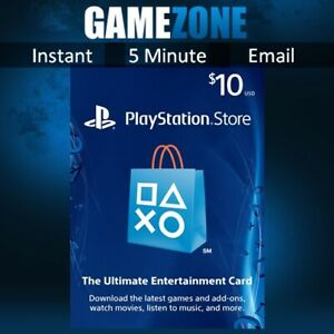 PlayStation PSN $10 USD Wallet Top Up Card - USA Store - Instant Code PS4/PS5