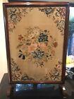 Antique Mahogany Needlepoint Tapestry Fire screen