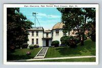 Elgin IL, Elgin Observatory & Watch Company Vintage Illinois Postcard X68