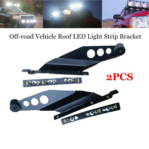 1 Pair Car SUV Off-road Vehicle Roof LED Light Strip Upper Bar Mounting Bracket