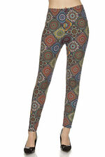 Leggings TC/16 Buttery Soft Brushed Floral Pattern  ONE SIZE
