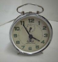 alter Wecker silber Meister Anker mechanisch Vintage clock