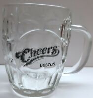 "Luminarc ""Cheers Boston"" Glass Beer Mug Beer Glass 16 Oz Dimpled Glass TV"