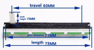 7pcs 75mm dual potentiometer fader A50K A20K A10K B for Yamaha Behringer Mixer