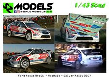 1/43 Decal Ford Focus Wrc 2006 MacHale Galway Rally 2007 no ixo spark hpi