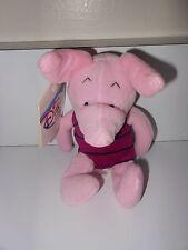 "1990's Disney Store Exclusive 8"" Mini Bean Bag Winnie the Pooh Friend Piglet New"
