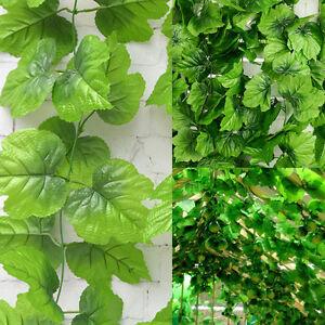 82ft Artificial grape Ivy vine faux Leaf Garland Plants Fake Foliage Wedding DIY