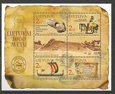 Lietuva Litauen MNH 2002 Mi 796-799 block 25 Sc 726a-d Millennium of Lithuania