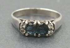 Womens Sapphire Ring 925 Sterling Silver Fine Jewellery Band Size M 1/2