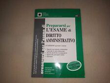 Prepararsi per l'esame di diritto amministrativo libro test giurisprudenza