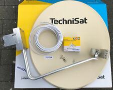 TechniSat Satanlage 650plus beige mit   TechniSat Quad-LNB (4Teilnehmer)Neu 25m