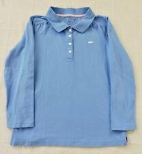 Vineyard Vines Girls Sz Large 14 Light Blue Pink Whale Long Sleeve Polo Shirt
