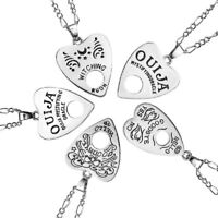 Vintage OUIJA Heart Hollow Pendant Necklace Chain Punk Jewelry MENS Womens Gift