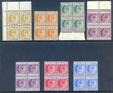 Cyprus 1904-10 Edward 7th set to 2pi in unmounted blocks 4 (2017/06/15#05)