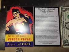 The Secret History of Wonder Woman Postcard 2014 Nycc Jill Lepore Free Shipping