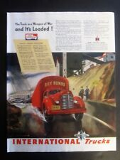 International Truck Buy War Bonds WWII Ad