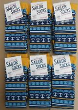 6 PAIRS SEASALT BAMBOO WOMENS LONG SAILOR SOCKS SIZE 3-8 UK 36-42 ANCHOR MARINE