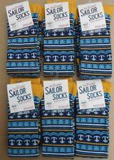 6 pares de calcetines de marinero Seasalt Bambú para mujer largo talla 3-8 Reino Unido 36-42 Ancla Marina