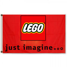 Lego Construction Toys just imagine 3x5ft Red Flag banner