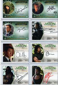 Arrow  -  Autograph Wardrobe and Printing Plate Selection Cryptozoic