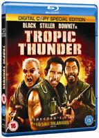 Tropic Thunder Blu-Ray (2009) Ben Stiller cert 15 2 discs ***NEW*** Great Value
