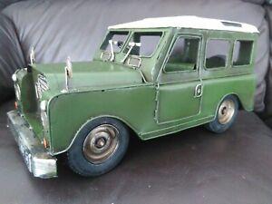 Tinplate Vintage Land Rover model.  New Quality item.