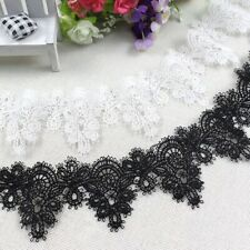 Scallop Border Fine Embroidered LACE TRIM Sewing Ribbon Craft Bridal Dress C4