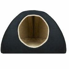 MEDIUM BLACK FAUX SUEDE DOG BED IGLOO **LUXURY DOG BED**