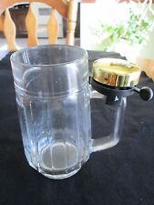 Novelty Beer Mug Glass Vintage Irish clover bicycle ching Bell ring St. Pats