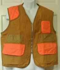 VTG American Field Sportswear Hunting Blaze Orange on Canvas Duck Pocket Vest