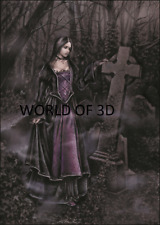 Victoria Frances mquise Chica En Cementerio - 3D cultpicture 300 Mm x 400 mm