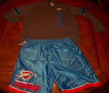 OKLAHOMA CITY THUNDER OKC NBA BASKETBALL WARMUP JACKET & SHORTS 2XL NEW w/ TAG