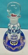 VINTAGE PERTHSHIRE SCOTLAND PAPERWEIGHTS PERFUME BOTTLE MILLEFIORI W. STOPPER