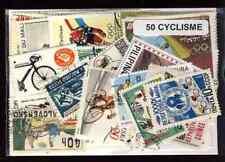 Cyclisme - Cycling 50 timbres différents oblitérés