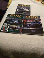 3 Autocourse Grand Prix Formula 1 Racing Hardcover Books 95-96, 96-97, 98-99