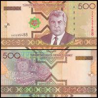 Turkmenistan 500 Manat Banknote, 2005, P-19, UNC, Asia Paper Money