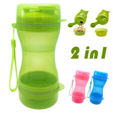 Portable Dog Cat Pet Water Bottle Travel Food Feeder Dispenser Food Container
