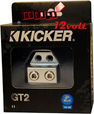 Kicker GT2 Ground Termination Block with Two 1/0-8 Gauge Input