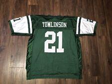 0eee7633654 Vintage LaDanian Tomlinson New York Jets Jersey Reebok NFL On Field Green XL