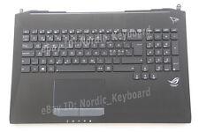 Backlit Nordic Swedish Keyboard for Asus G750JW G750JX 90NB04J1-R31HU1 Top case